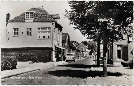 Schoolstraat Bennebroek in 1960