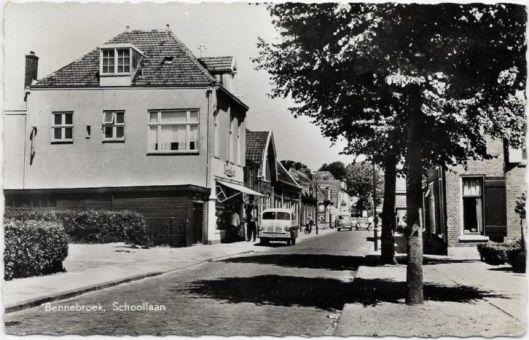 Schoolstraat Bennebroek in 1960