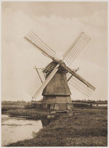 Watermolen Schouwbroekerpolder die omstreeks 1920 is gesloopt.