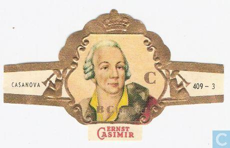 Sigarenbandje Ernst Casimir met portret van Casanova