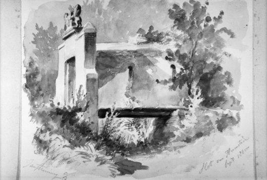 Het slot van Heemstede; door J.P.de Koning, 1865 (Rijksdienst voor het Cultureel Erfgoed)