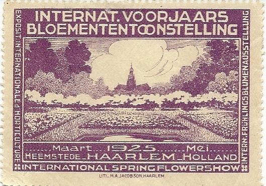 Sluitzegel van de FLORA 1925 in Heemstede