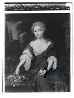 Adriana Constantia Sohier de Vermandois (1675-1735), dochter van Nicolaas Sohier de Vermandois en Anna Christina pauw. Ambachtsvrouwe van Bennebroek van 171 tot 1735. Zij is op 29-12-1735 begraven in de familiegrafkelder van de Hervormde kerk. Schilderij van Jan van Heinsbergen uit 1687 (foto RKD-Den Haag)