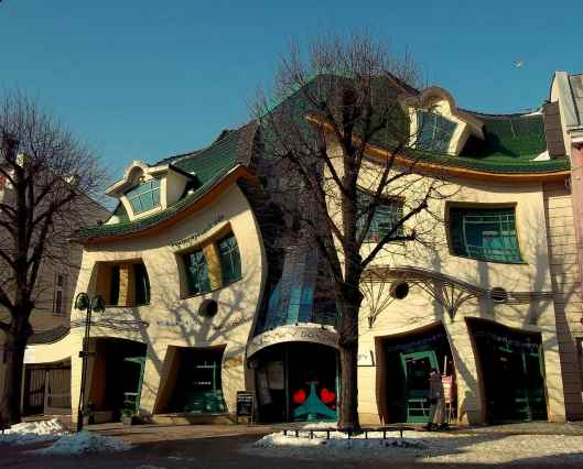 Zeer bijzondere architectuur in Sopot, Polen