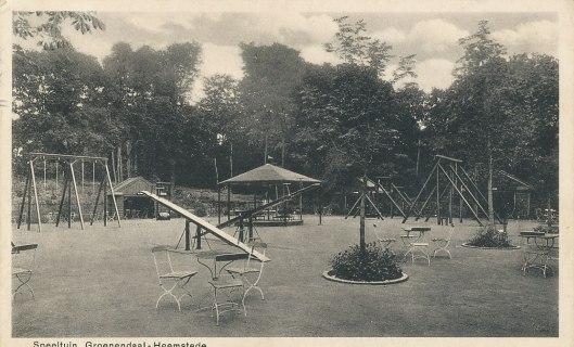 Oude prentbriefkaart van speeltuin Groenendaal