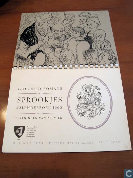 Illustratie uit kalender Sprookjesboek 1963 door Pluvier