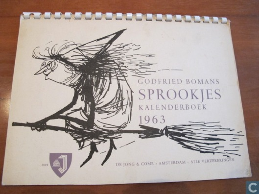 Kalenderboek Kalender 1963 Godfried Bomans met illustraties van Pluvier