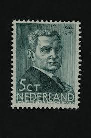 Postzegel van A.S.Talma (1864-1916). In serie zomerzegels 1936. Ontwerp van E.Reitsma-Valença.