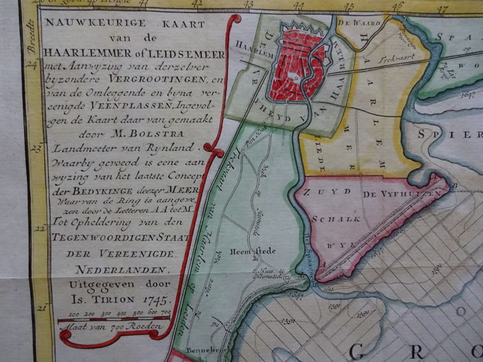 De Haarlemmermeerkaart uit 1591 Librariana
