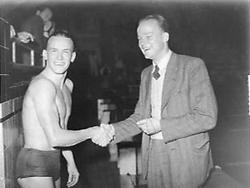 Joris Tjebbers (1929-2001) was deelnemer 400 meter vrije slag bij de O.S. 1952 in Helsinki