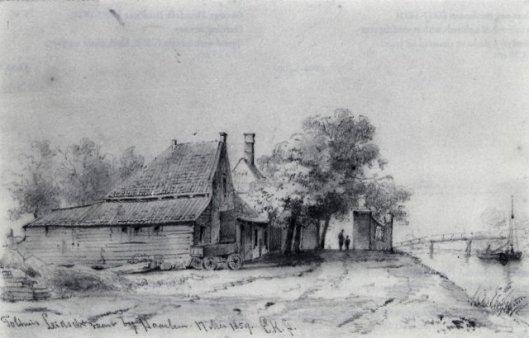Tolhuis Heemstede, getekend door Erverardus Koster (1817-1892) (NHA).
