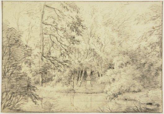 Tombe van Rousseau in Keukenduin Heemstede. Circa 1810 (NHA)