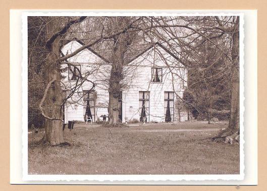Het zgn,. Tweeling- ofwel Juffershuis nabij Leyduin