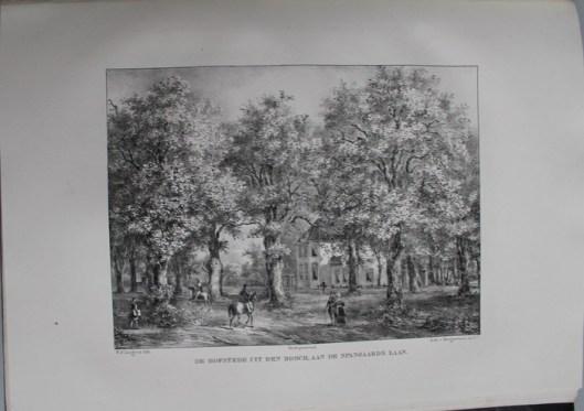 De hofstede Uit den Bosch, toebehorend aan P.van Eeghen te Amsterdam (P.J.Lutgers, circa 1840)