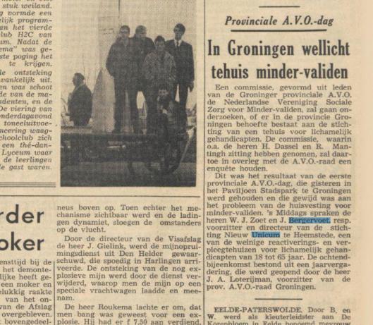 Bericht uit Nieuwsblad van het Noorden van 17 maart 1965
