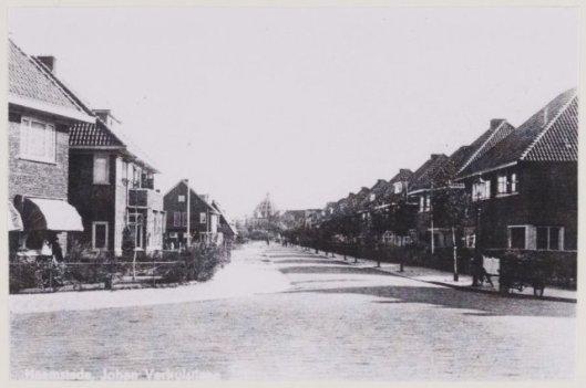 De Johannes Verhulstlaan in de Componistenwijk, 1940