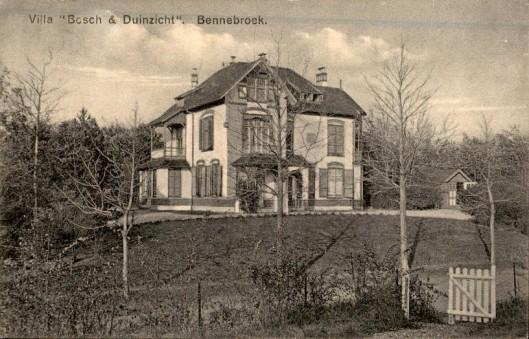 In 1903 is aan de Rijksstraatweg 79 in Bennebroek de villa 'Bosch en Duinzicht' gebouwd
