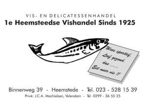 1e Heemsteedse Vishandel sinds 1925