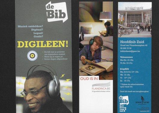 3 boekenleggers van bibliotheken in Vlaanderen