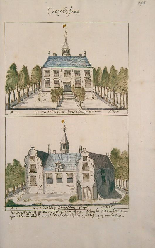 Nieuwe Huis te Vogelenzang in Atlas Schoemaker. 1726