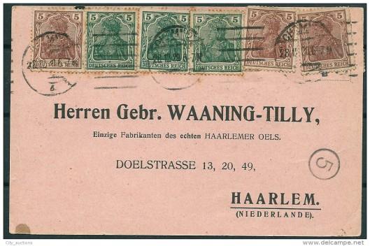 Voorzijde briefkaart Waaning-Tilly