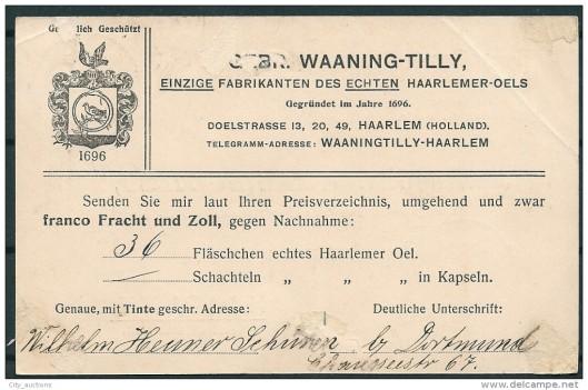 Briefkaart Waaning-Tilly, Haarlem