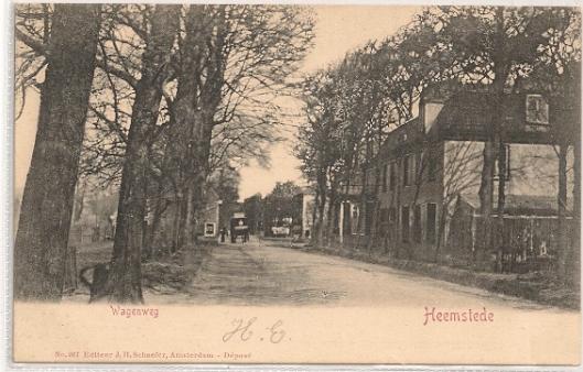Wagenweg = Herenweg Heemstede (1905)