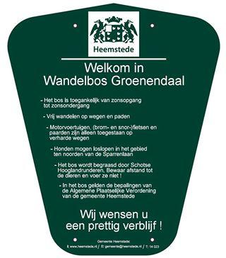 Nieuwe borden in wandelbos Groenendaal sinds 2014
