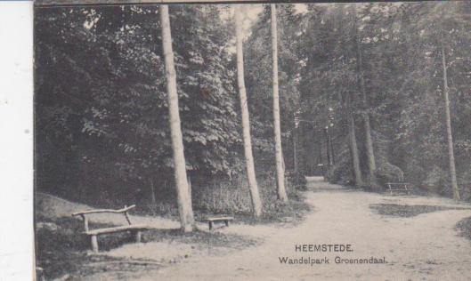 Oude ansichtkaart van het wandelpark Groenendaal