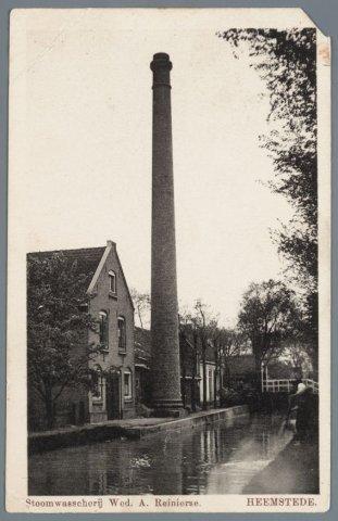 Wasserij W.A.Reinierse, Esdoornkade/Blekersvaart, circa 1920