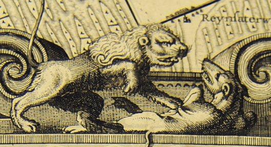 Uit 1641 dateert een niet uitgevoerd inpolderingsplan van het Haarlemmermeer, bijgenaamd 'de wrede waterwolf' door Jacob Bartelszoon Veris met bovenstaande illustratie.