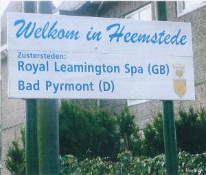 Welkom in Heemstede, officieel gejumeleerd met Royal Leamington Spa en bad Pyrmont