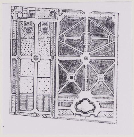 Plattegrond van hofstede Westermeer; door Hendrik de Leth, circa 1730 (NHA)