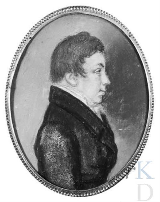 Hendrik Samuel van Wickevoort Crommelin, burgemeester van Berkenrode van 1835-1850. Portret toegeschreven aan Johannes Anspach