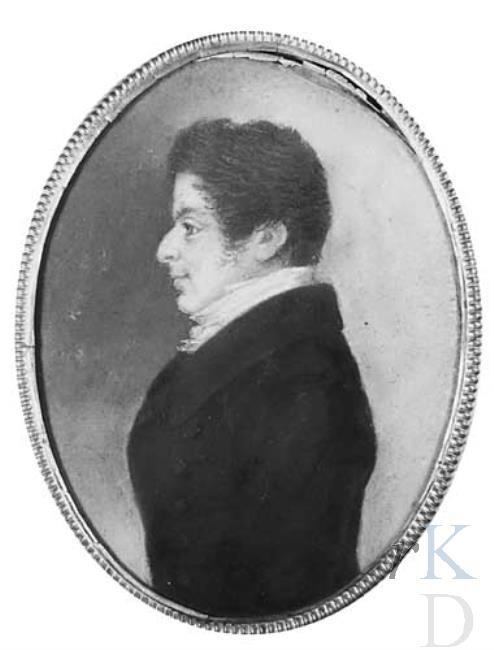 Jan Pieter Adolf van Wickevoort Crommelin. Portret togeschreven aan Johannes Anspach