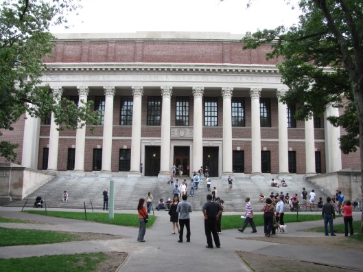 Widener library, Harvard University, Massachusetts, USA