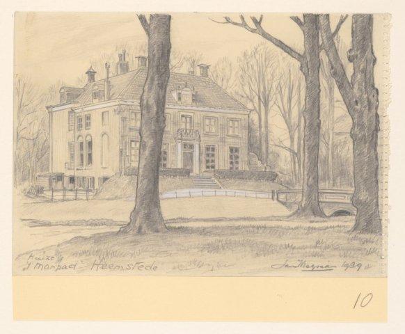 Huis te Manpad. Tekening door Jan Wiegman uit 1939 (NHA)