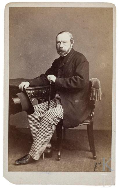 Gerrit Willink. Carte-de-visite uit circa 1865
