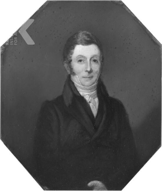 Arnoud David Willink (1783-1854). Naar een schilderij van F.Tozelli (1e helft 19e eeuw). Hij was door zijn huwelijk de eerste Willink op het Huis te Bennebroek