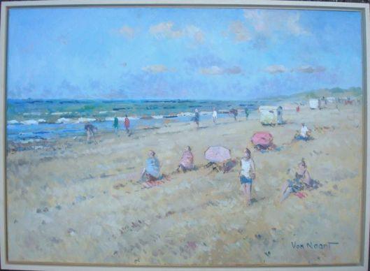 Strand en zee bij Zandvoort door A.C.van Noort