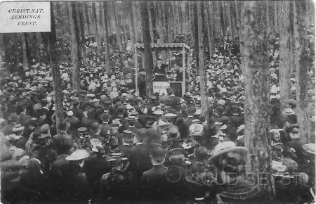Ansichtkaart van Christelijk Nationaal Zendingsfeest te Zeist in 1910