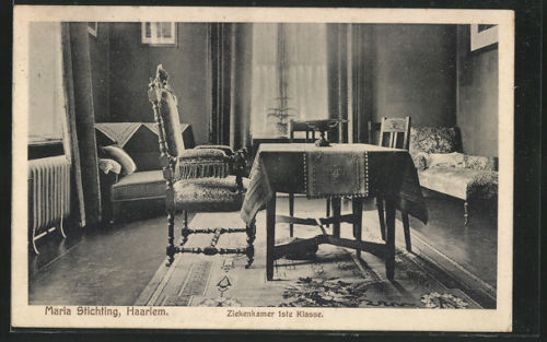 Maria Stichting Haarlem. Ziekenkamer eerste klasse