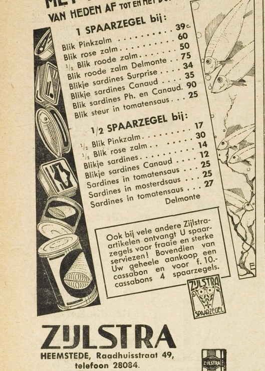 Advertentie van kruidenierZijlstra, Raadhuisstraat 49, EHC, 22-4-1932
