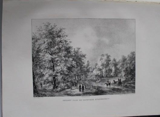 De hofstede van Zuiderhout van jhr. M.A.Beels (P.J.Lutgers, 1ca. 1840)