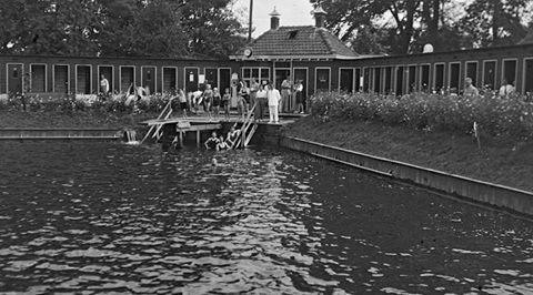 De vroegere zwemvijver aan de Glipper Dreef