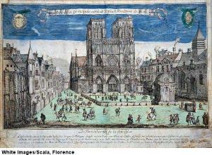 Gezicht op Parijs. Ets door Abraham van Merlen uit 1640