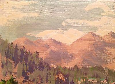 Schilderij landschap door Hanns Berchtenbreiter uit 1945