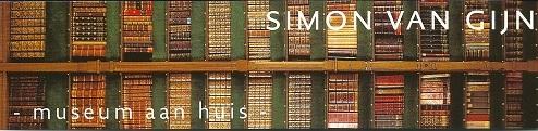 Boekenlegger van Museum Simon van Gijn, gevestigd in twee monumentale panden aan de Nieuwe Haven te Dordrecht.