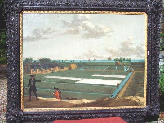 Schilderij van 'Bleeklust' in Heemstede (buurtschap de Glip) door J. Mensing, 1737