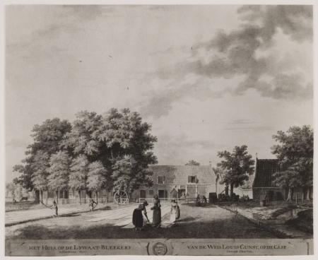 Bleeklust van de Wed. Louis Gunst. Tekening eind 18e eeuw (N.H.A.)